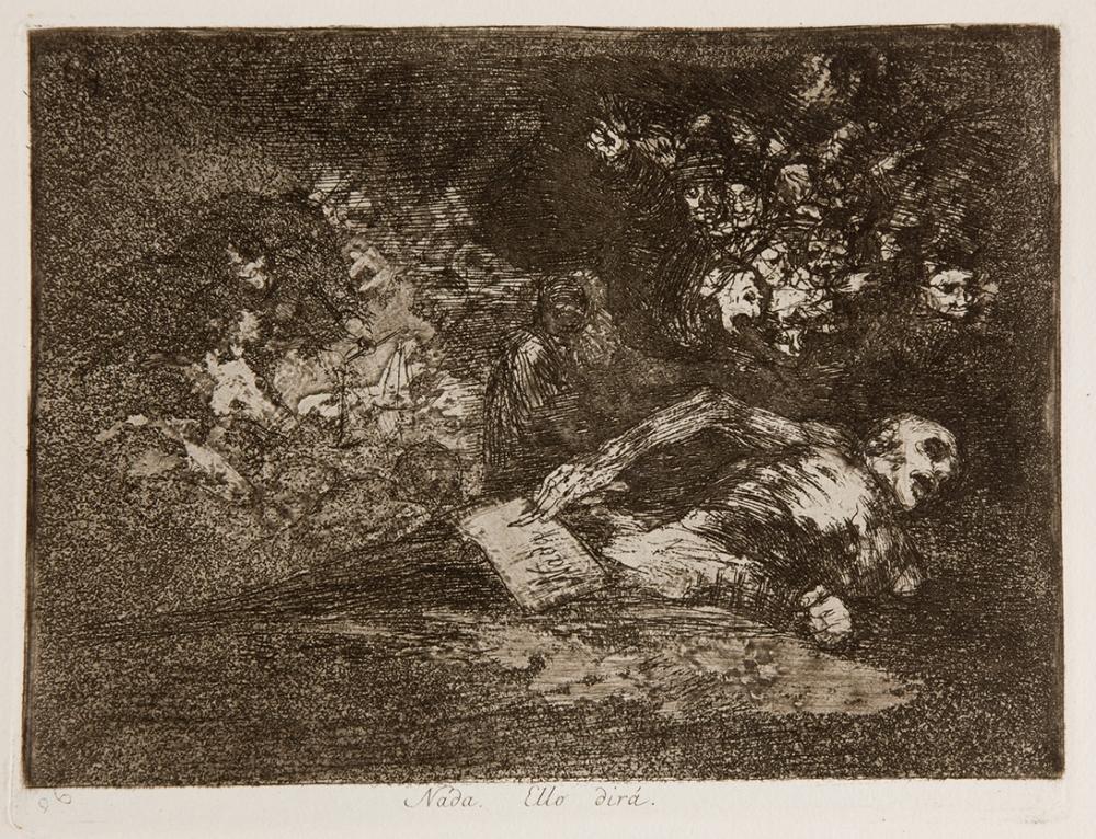 """Francisco de Goya. """"Nada"""". Disparates. 1814-1815. Museo Nacional del Prado."""