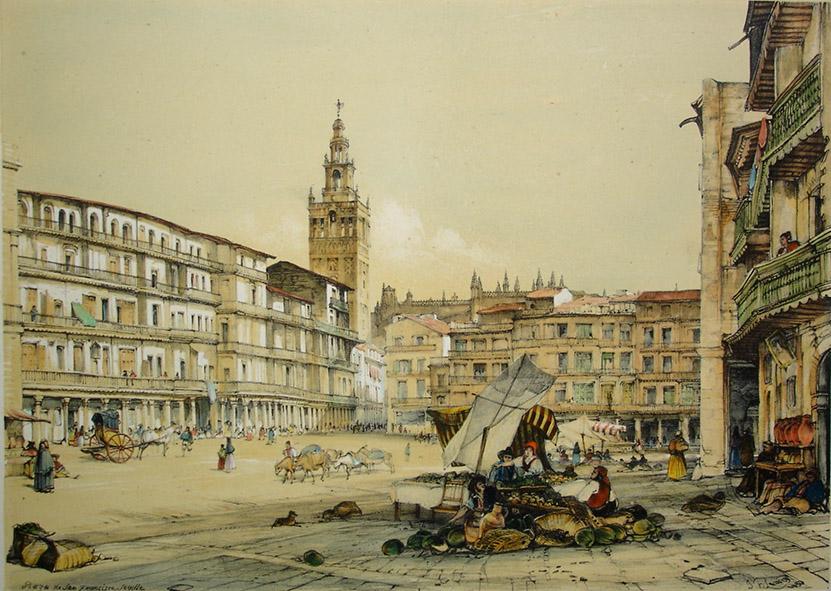 John Frederick Lewis. Plaza de San Francisco. 1836.