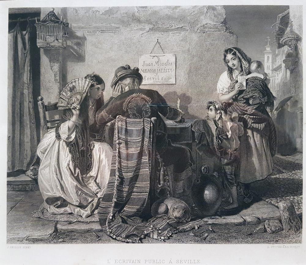 Lumb Scocks. El escribano público en Sevilla. Hacia 1858.