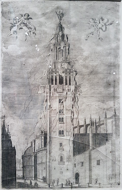 Matias de Arreaga y Alfaro. La Giralda engalanada. 1672.