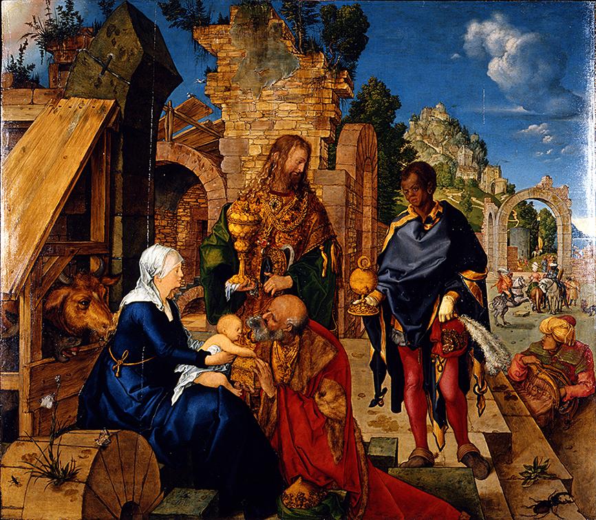 Alberto Durero. Adoración de los Magos. 1504. Galería de los Uffizi. Florencia.