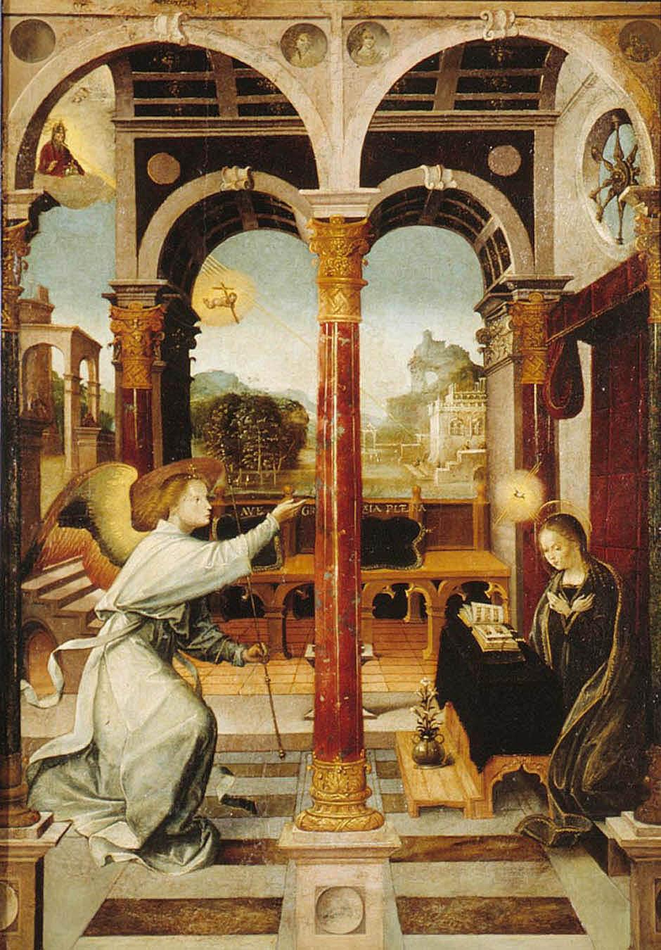 Alejo Fernández. La Anunciación. Hacia 1508. Museo de Bellas Artes. Sevilla.