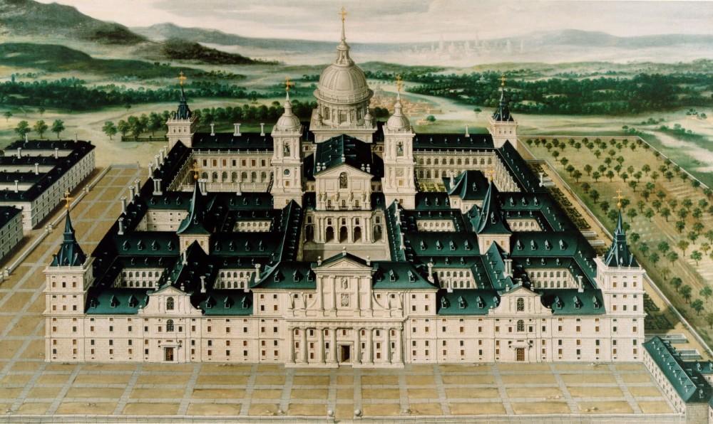 Anónimo. Vista del Real Monasterio de San Lorenzo de El Escorial. Patrimonio Nacional.