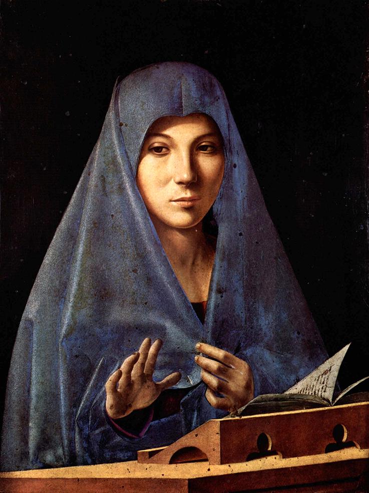 Antonello da Messina. Virgen de la Anunciación. 1475. Galería Regional de Sicilia.
