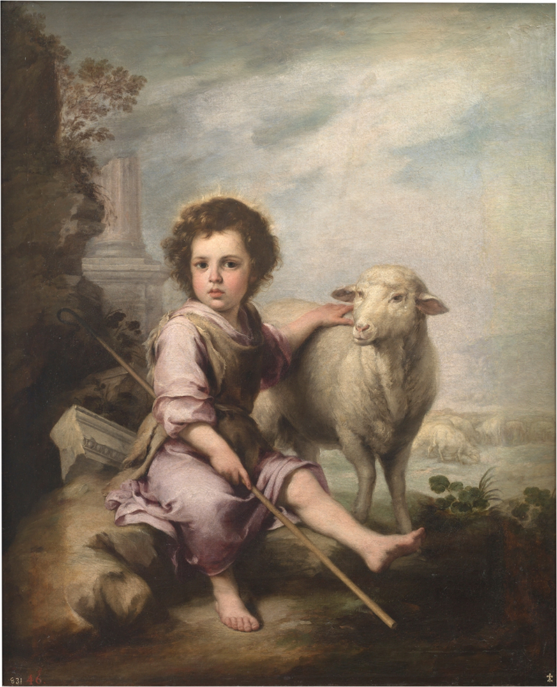 Bartolomé Esteban Murillo. El buen pastor. Hacia 1660. Museo del Prado. Madrid.
