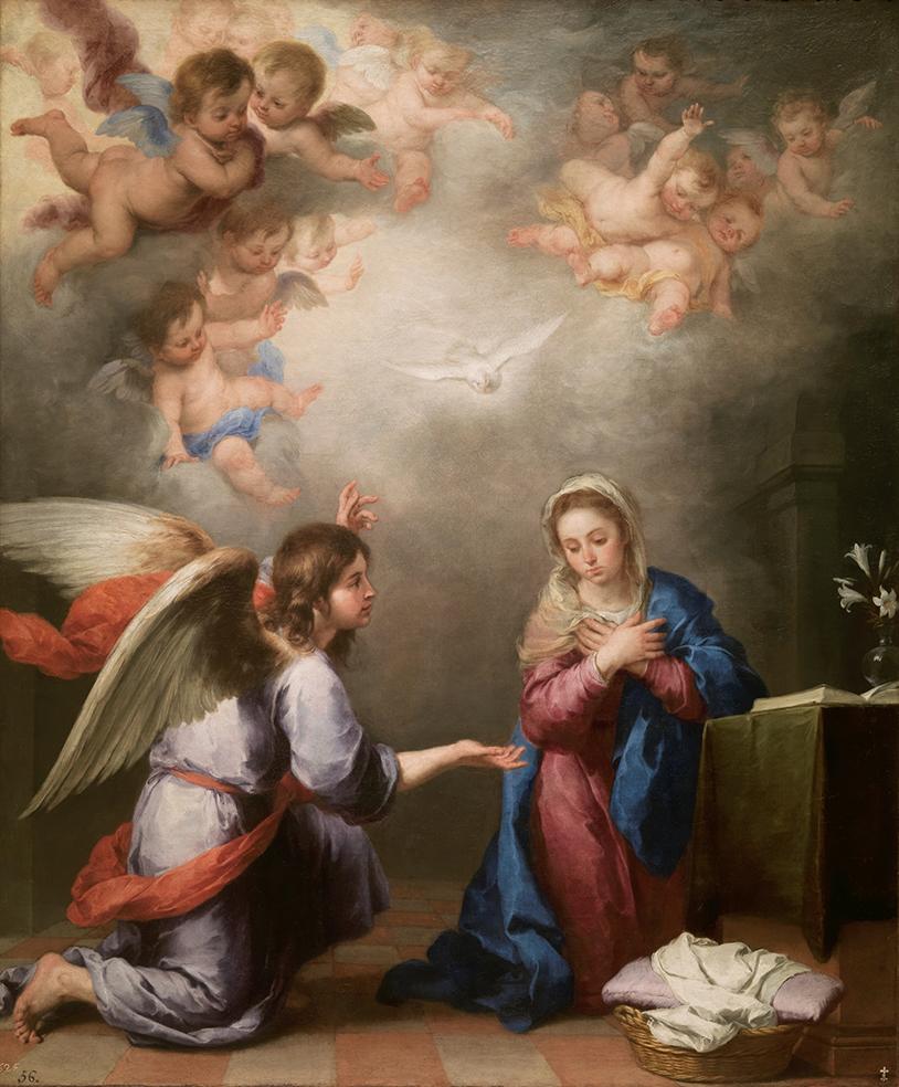 Bartolomé Esteban Murillo. La Anunciación. Hacia 1660. Museo del Prado. Madrid.