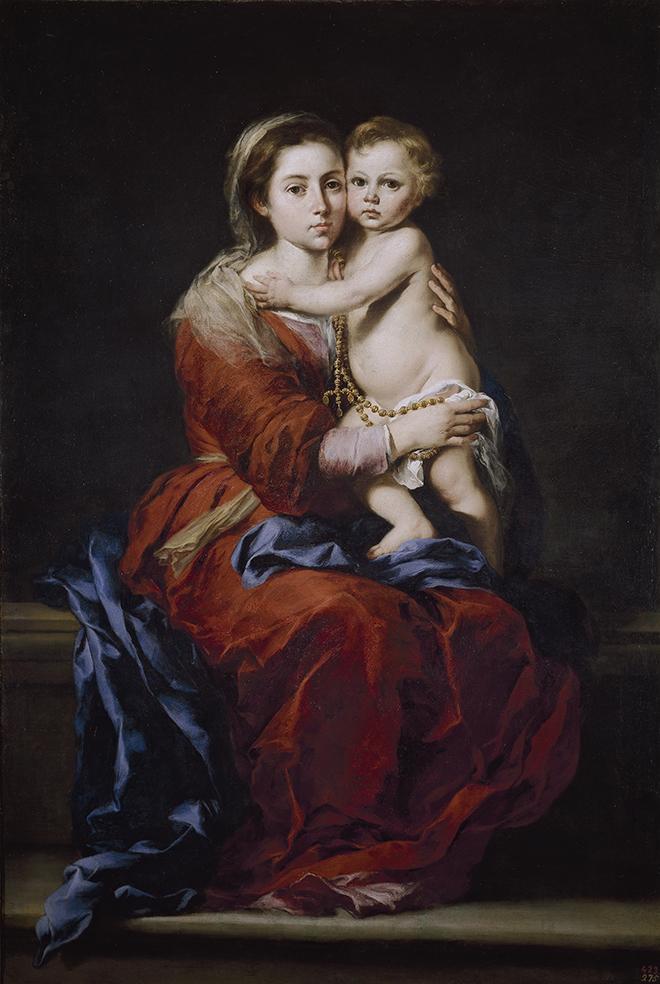 Bartolomé Esteban Murillo. Virgen del Rosario.1650-1655. Museo del Prado. Madrid.