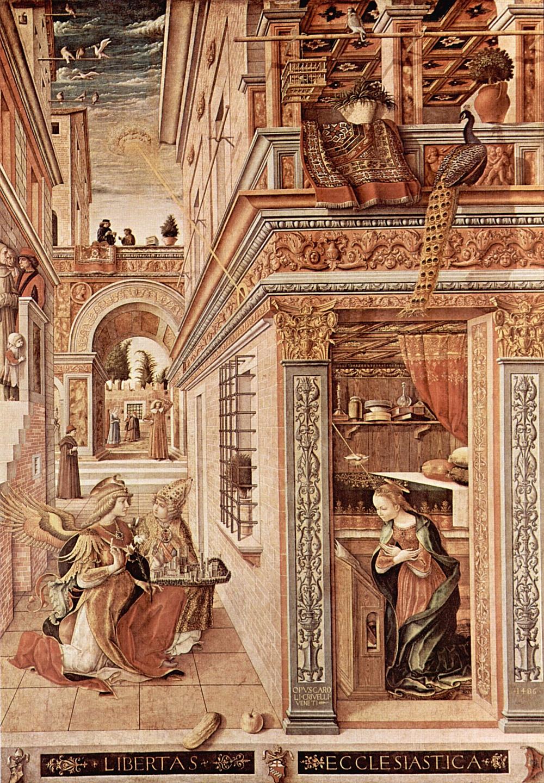 Carlo Crivelli. Anunciación.1486. National Gallery. Londres.