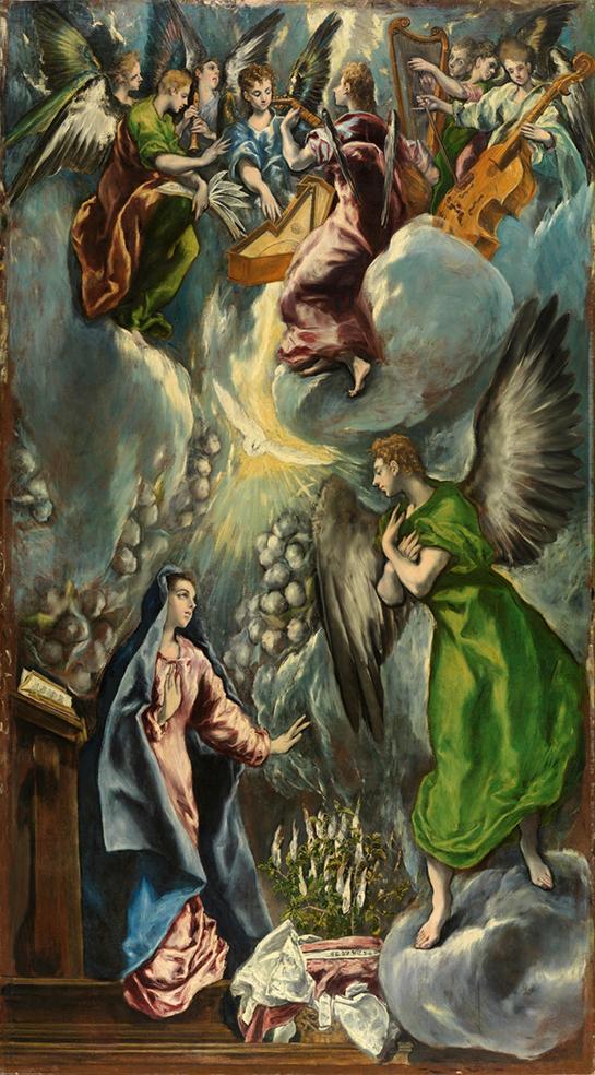 El Greco. La Anunciación. 1597-1600. Museo del Prado. Madrid.