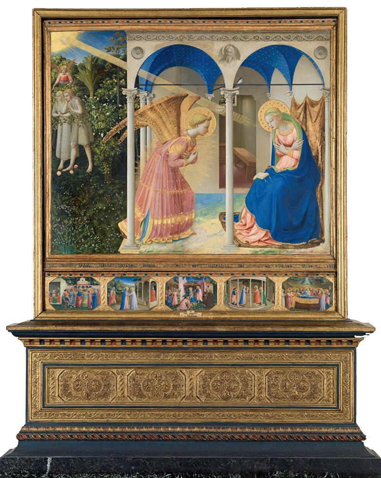 Fra Angelico. La Anunciación. 1425 - 1428.. Museo del Prado. Madrid.