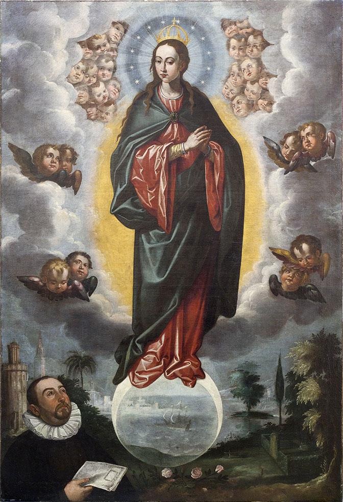 Francisco Pacheco. Inmaculada de Miguel Cid. 1619. Catedral de Sevilla.