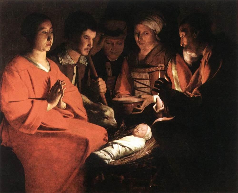 Georges de La Tour. Adoración de los pastores. Hacia 1645. Museo del Louvre. Paris.