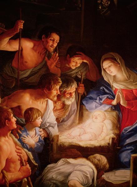 Guido Reni. La Adoración de los pastores. Hacia 1600. Certosa de San Martino. Nápoles.