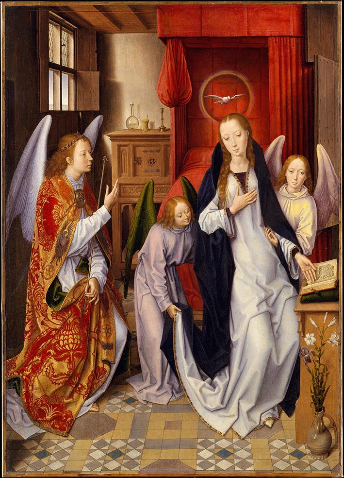 Hans Memling. La Anunciación. 1480-1480. Metropolitan Museum. Nueva York.
