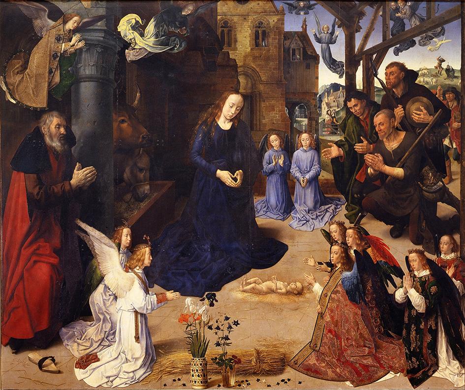 Hugo van der Goes. Tríptico Portinari. 1476-1478. Galeria Ufizzi. Florencia.