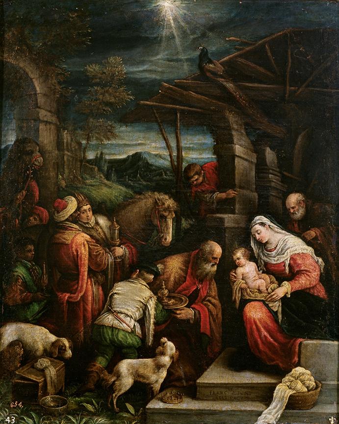 Jacopo Bassano. Adoración de los Magos. Segunda mitad del siglo XVI. Museo del Prado. Madrid.