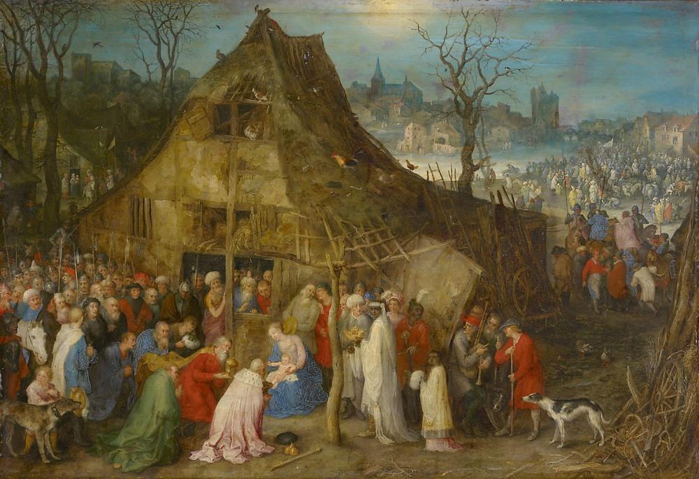 Jan Bruegel, el viejo. La Adoración de los Magos. 1598. Kunsthistorisches Museum. Viena.