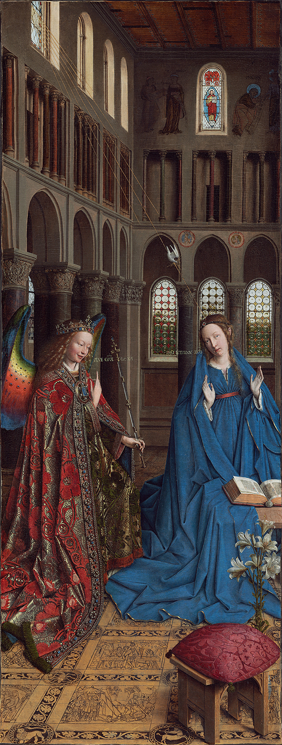 Jan Van Eyck. La Anunciación. 1434-1436. National Gallery. Washington.