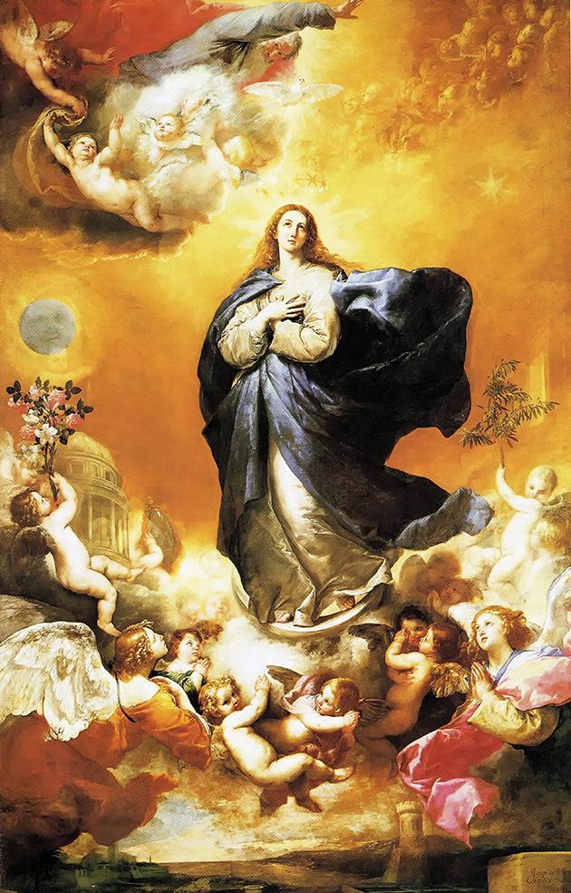 osé de Ribera. Inmaculada Concepción. 1635. Convento de las Agustinas Recoletas. Salamanca.