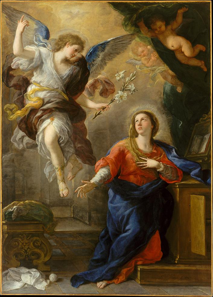 Lucas Jordán. La Anunciación. 1672. Metropolitan Museum. Nueva York.