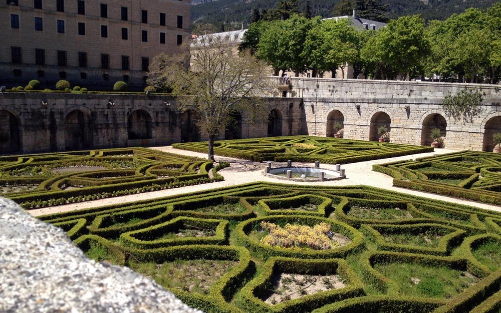 Vista de los jardines.