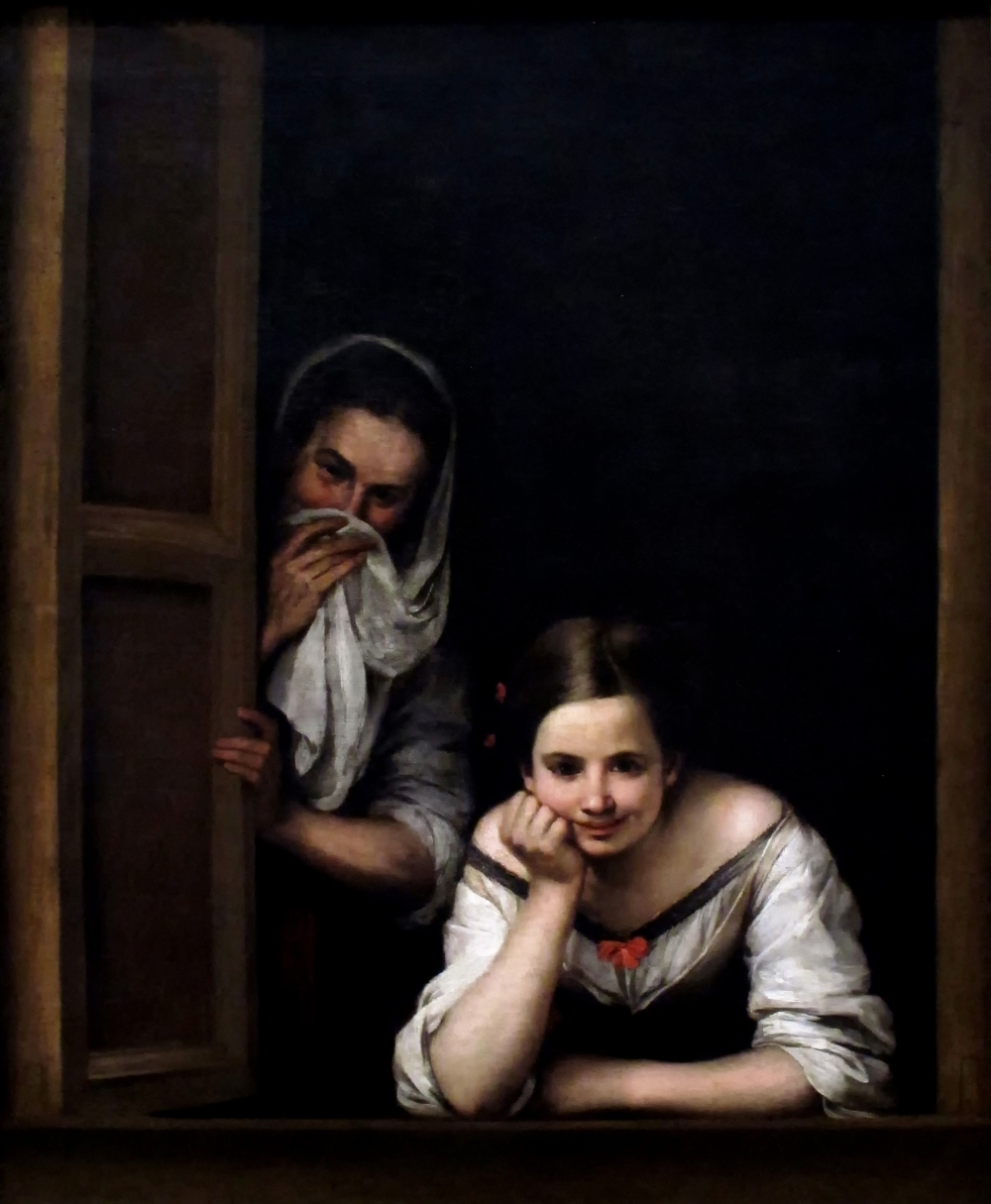 Bartolomé Esteban Murillo. Mujeres en la ventana. 1665-1675. National Gallery. Washington.