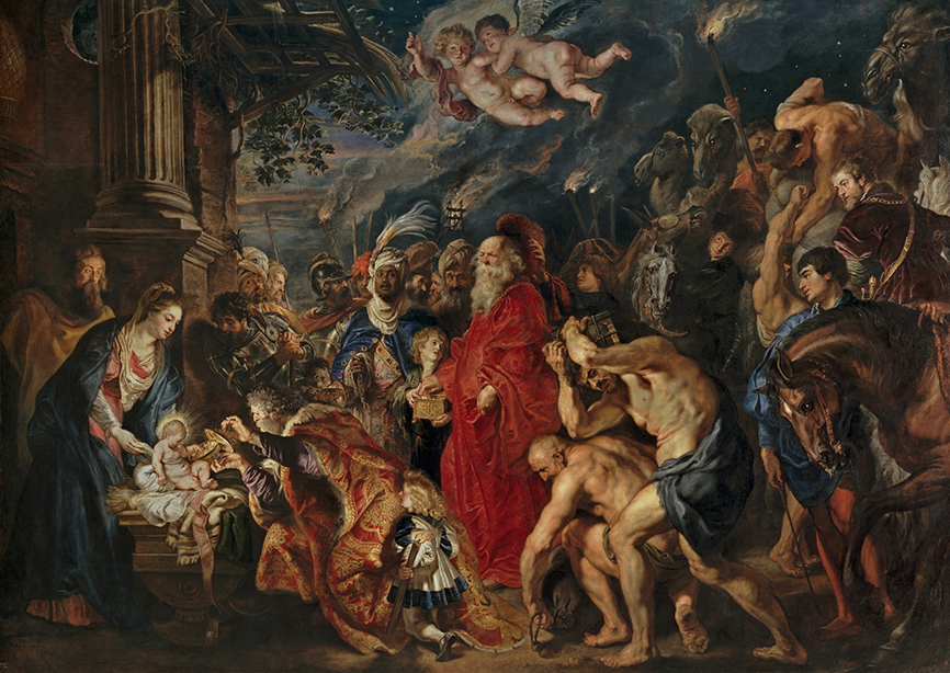 Peter Paul Rubens. La Adoración de los Magos. 1628-1629. Museo del Prado. Madrid.