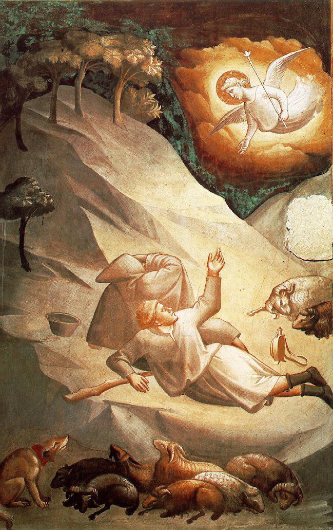 Tadeo Gaddi. Anunciación de los pastores. 1327-1330. Iglesia de la Santa Croce. Florencia.