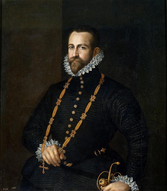 Anónimo. Retrato de caballero de la orden de Calatrava. Hacia 1580-1590. Museo Nacional del Prado.