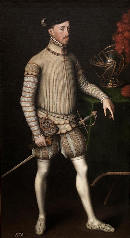 Antonio Moro. El emperador Maximiliano II. 1550. Museo Nacional del Prado.