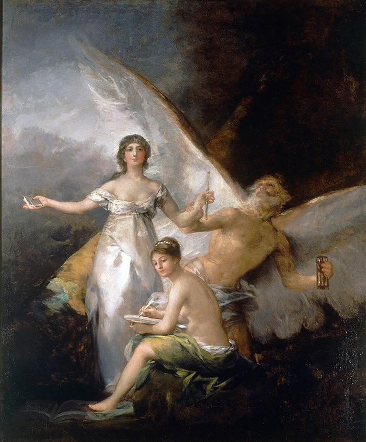 Francisco de Goya. La Verdad, el Tiempo y la Historia. 1797-1780. Nationalmuseum. Estocolmo.