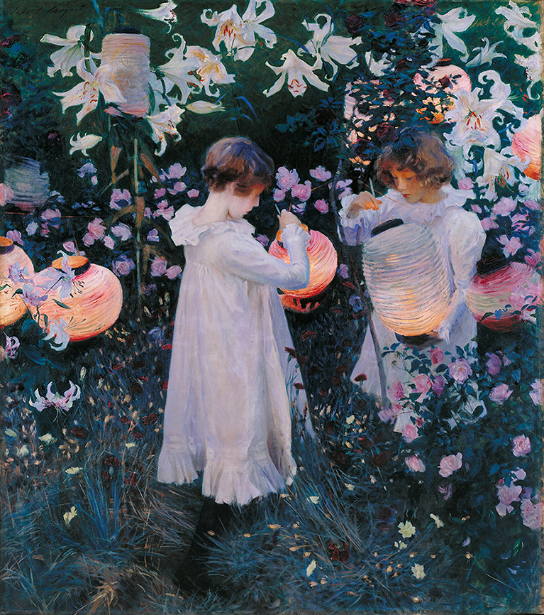 John Singer Sargent. Clavel, lirio, lirio, rosa. 1885-1886. Tate Gallery. Londres.