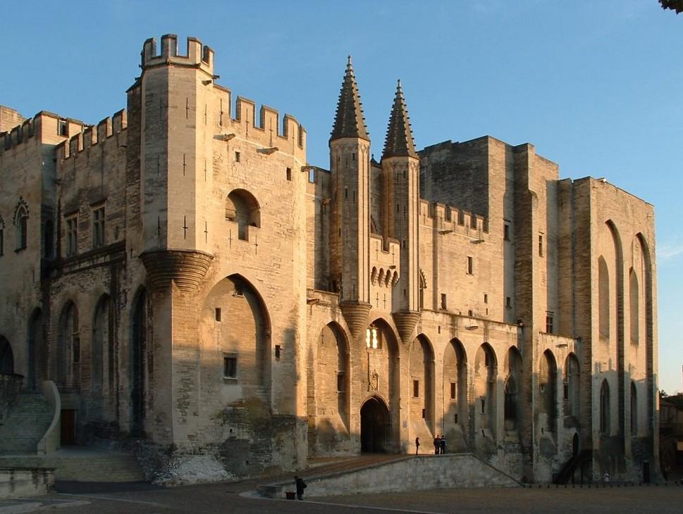 Palacio papal de Avignon.