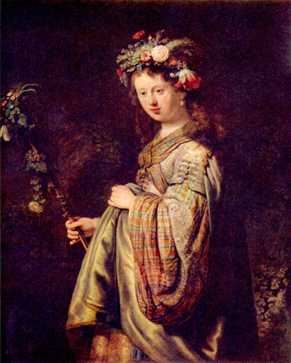 Rembrandt Harmensz van Rijn. Flora. 1634. Museo del Hermitage.