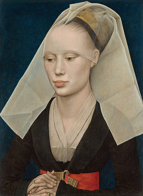Rogier van der Weyden. Retrato de dama. Hacia c1460, National Gallery. Washington.