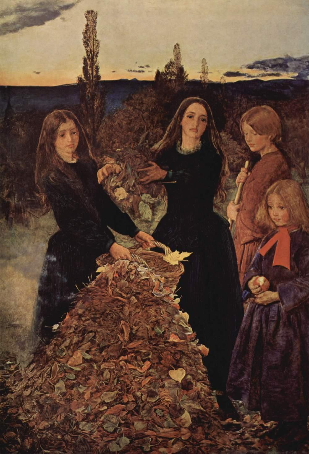 Sir John Everett Millais. Hojas de Otoño. 1856. Manchester Art Gallery.