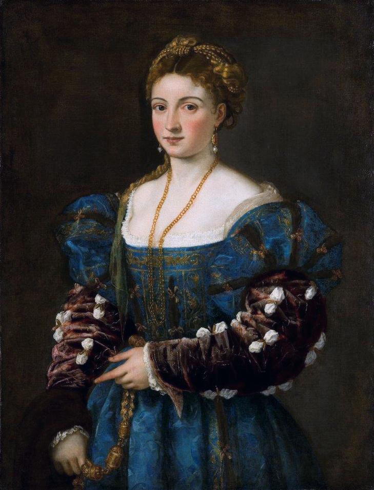 Tiziano Vecellio. La bella. Retrato de Isabella d´Este. c. 1536. Palacio Pitti. Florencia.