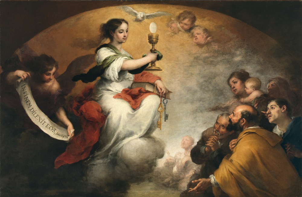 Bartolomé Esteban Murillo. El triunfo de la Eucaristía. 1662-1665. Buscot Park & The Faringdon Collection. Oxfordshire.