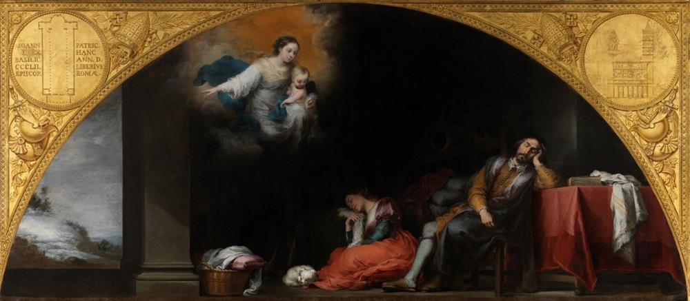 Bartolomé Esteban Murillo. Fundación de Santa María Maggiore de Roma. El sueño del patricio Juan. 1664-1665. Museo del Prado.