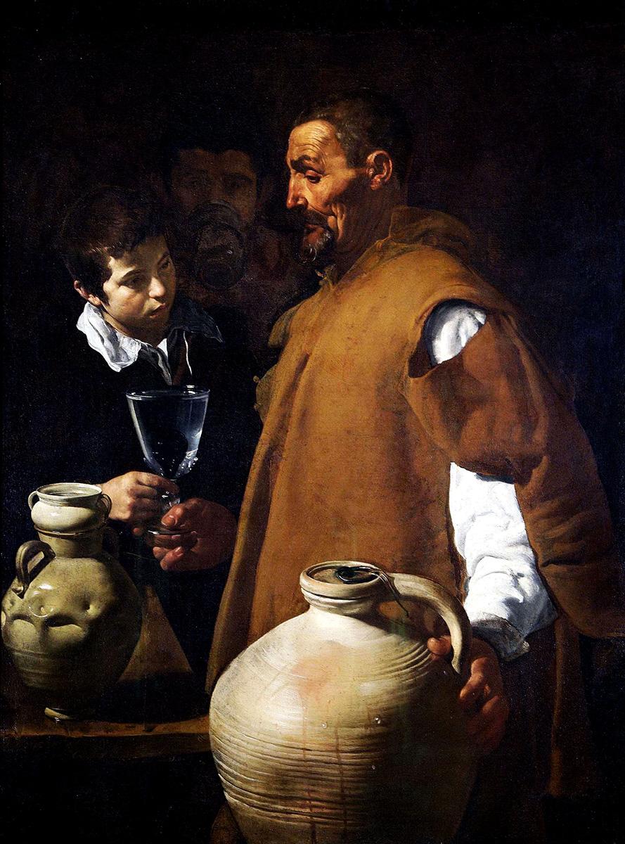 Diego Velázquez. El aguador de Sevilla. Hacia 1620.Apsley House. Wellington Museum. Londres.