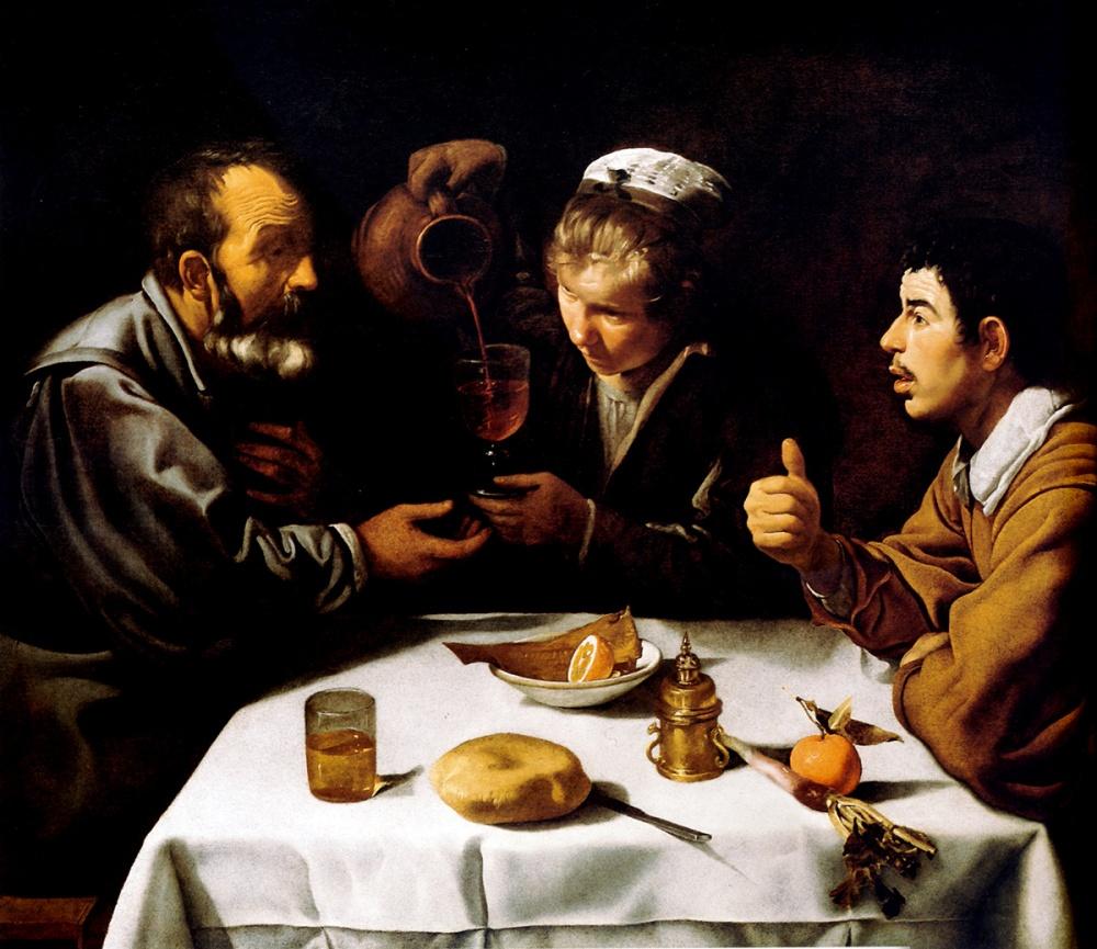 Diego Velázquez. El almuerzo. 1618-1619. Szépmüvészeti Muzeum. Budapest.