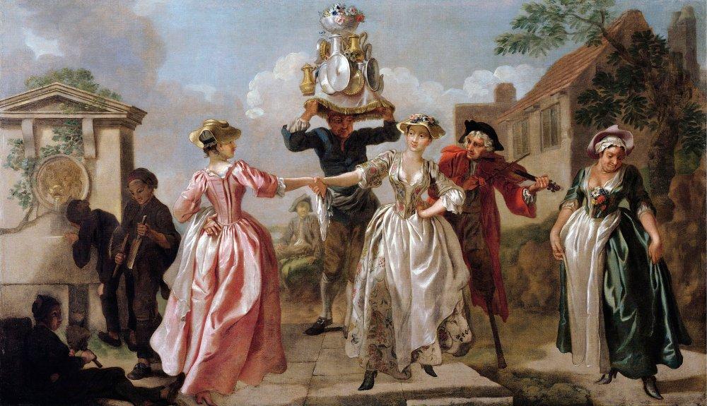 Francis Hayman. La danza de la lechera.1735. Museo Victoria & Albert. Londres.