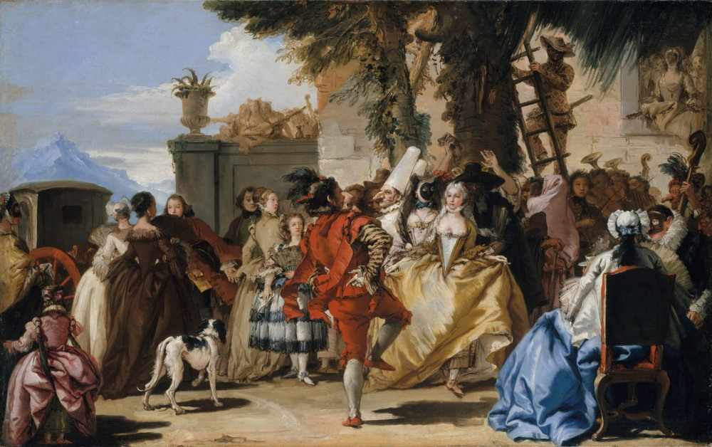 Giovanni Domenico Tiepolo. Danza en el campo. Hacio 1755. Metropolitan Museum. Nueva York.