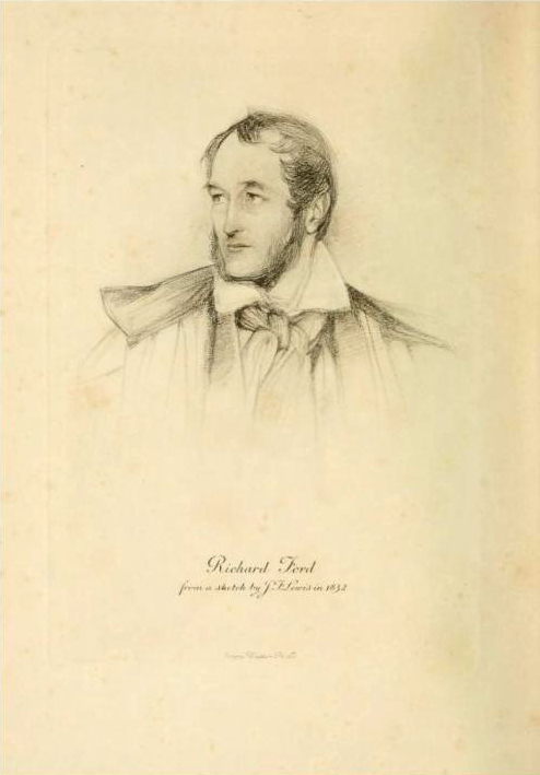 John Frederick Lewis. Richard Ford. 1832. Ilustración de la obra The Letters of Richard Ford. Londres 1905.