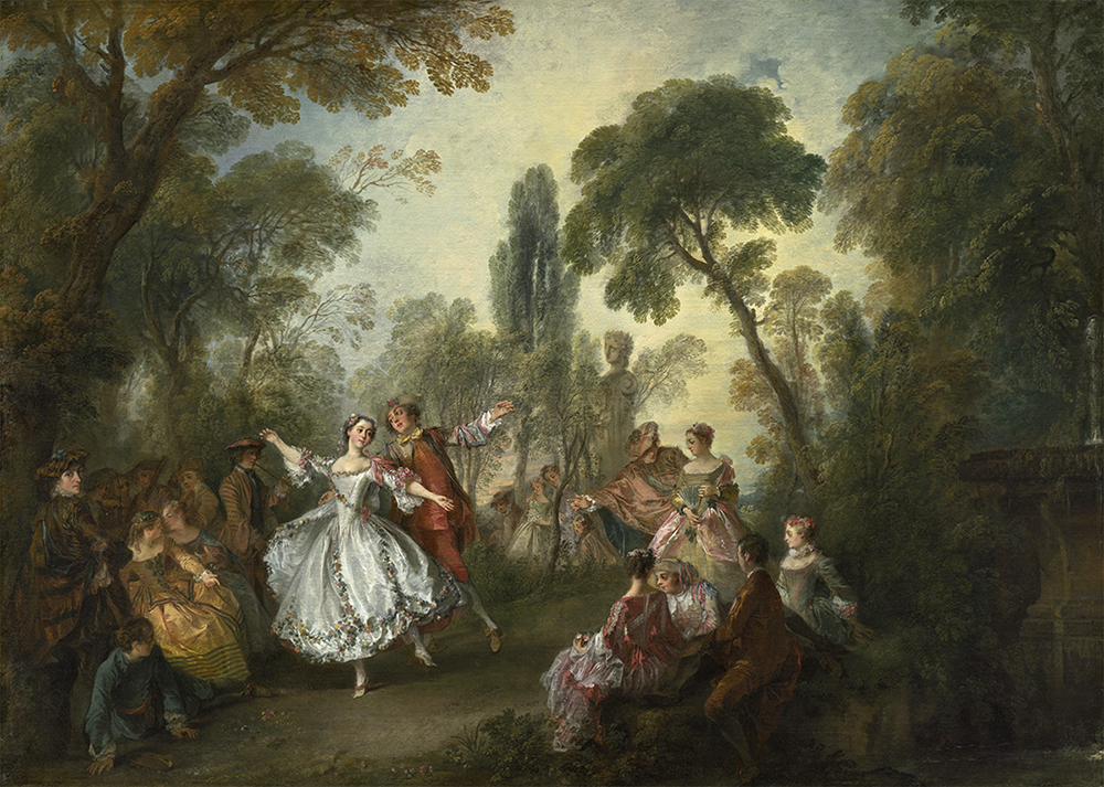 Nicolas Lancret. Danza de la Camargo. Hacia 1730. National Gallery of Art. Washington.