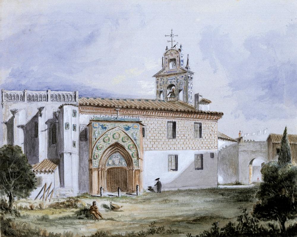 Richard Ford. Iglesia del monasterio de Santa Paula. 1830. Sevilla.