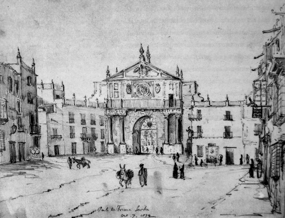 Richard Ford. Puerta de Triana. 1830. Sevilla.