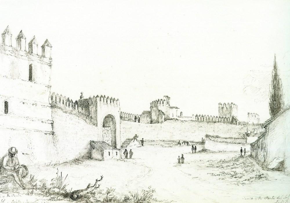 Richard Ford. Vista interior de la Puerta del Sol. 1831. Sevilla.