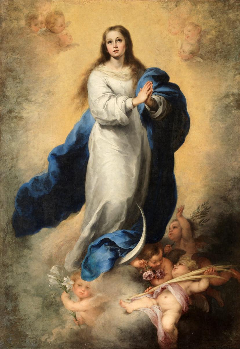 Bartolomé Esteban Murillo. La Inmaculada del Escorial. 1660-1665. Museo del Prado.