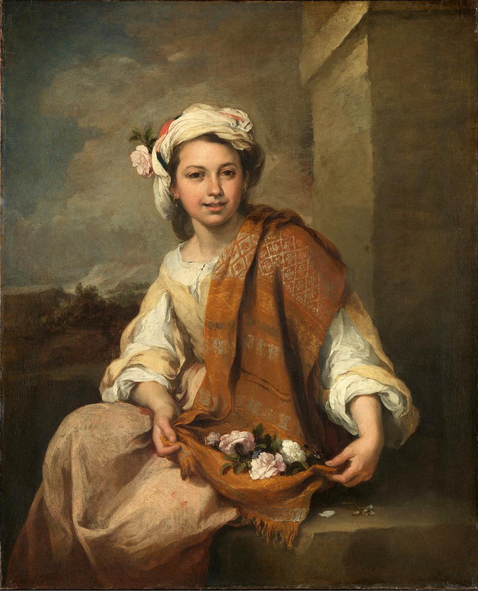 Bartolomé Esteban Murillo. Muchacha con flores. 1665-1670. Dulwich Picture Gallery. Londres.